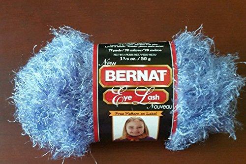 Yarn Eyelash Bernat (Bernat Eye Lash Nouveau 35142 Hip (Purple Blue))