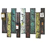 Midwest CBK Offset Panel Nine Bottle Wall Wine Holder