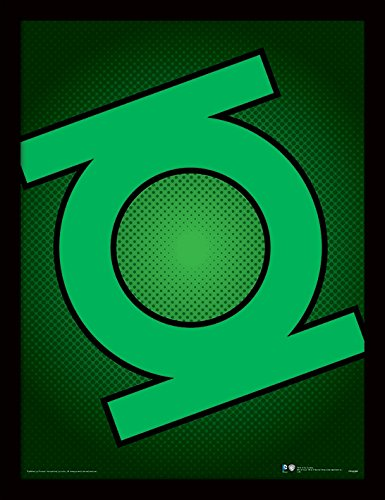 iPosters DC Comics Green Lantern Symbol Framed 30 x 40 Official Print - Overall Size: 36 x 46 cm (14 x 18 inches) Print Size: 30 x 40 cm ()