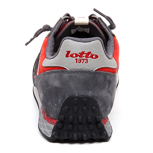 Grigio Chilli Tokyo Suede Lotto Pelle Sneakers Targa Leggenda Uomo Asphalt Grigio Rosso zwIxBqpC
