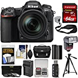 Nikon D500 Wi-Fi 4K Digital SLR Camera & 16-80mm VR Lens 64GB Card + Case + Flash + Battery & Charger + Tripod + 3 Filters + Kit