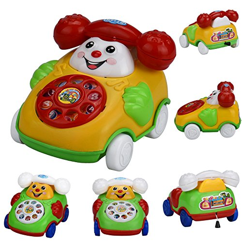Wenini Telephone Car Top Chain Car Educational Toys - Cartoon Smile Phone Car Developmental Kids Toy Gift for Ages 3 Years Over (Random) by Wenini (Image #2)