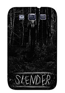 Awesome Design Slender Man Bw Forest Creepy Trees Black White Dark Videogames Hard Case Cover For Galaxy S3(gift For Lovers)