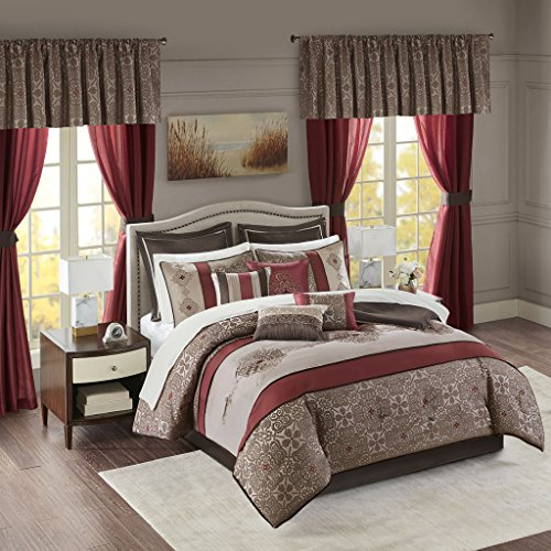 Madison Panel Bed (Delaney 24 Piece Room In a Bag Red Queen)