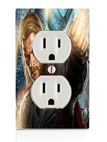 Comic Book Hero Electrical Outlet Plate