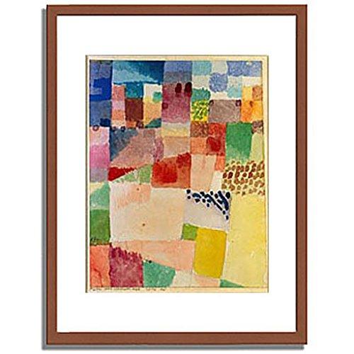 パウルクレー 「Motiv aus Hammamet. 1914 48. 」 インテリア アート 絵画 壁掛け アートポスターフレーム:木製(茶) サイズ:M(306mm X 397mm) B00MSW8WBW1.フレーム:木製(茶) 2.M (306mm X 397mm)