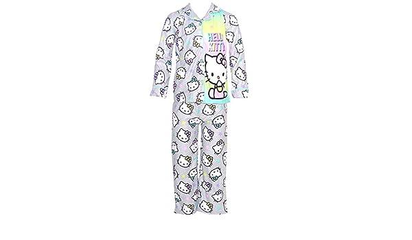 Hello Kitty - Pijama - para niña Gris Gris Small: Amazon.es: Ropa ...
