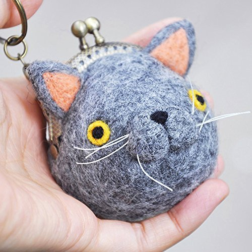 Cat coin purse keychain, cat pouch bag, cat lover gifts, cat coin pouch, british shorthair cat