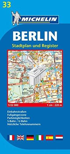 Michelin Map Berlin #33 (Maps/City (Michelin))