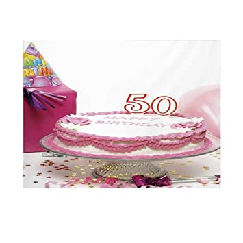 50 cumpleaños Decoraciones Fondo de fotografía, Chocolate ...