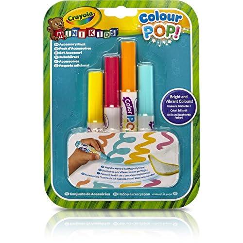 Crayola Mini Kids Color Pop 81-2007-E-000 - Recharge 4X Feutres - le Coloriage Qui s'Efface à l'Eau