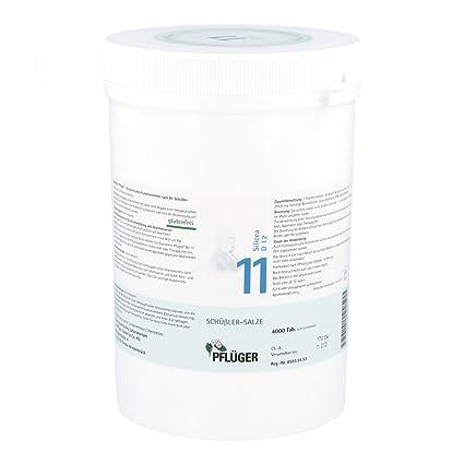 Bioquímica pflüger 11 Silicea D 12 comprimidos 4000 ST tabletas