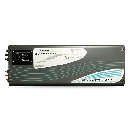 Renogy 3000W 12V Pure Sine Wave Inverter Charger DC AC Battery Power Converter, black