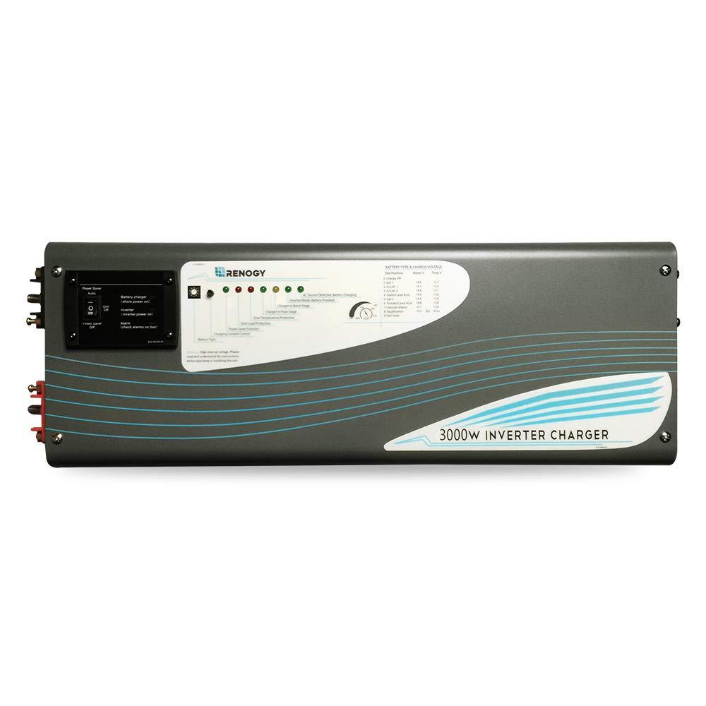 Renogy 3000W 12V Pure Sine Wave Inverter Charger DC AC Battery Power Converter