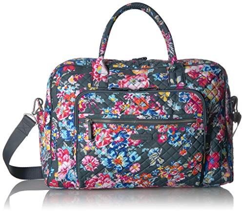 Vera Bradley Iconic Weekender Travel Bag, Signature Cotton, Pretty Posies