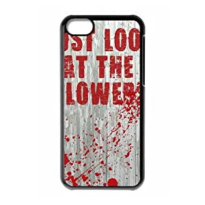 Jumphigh Zombie Vampire iPhone 5C Cases Look At The Flowers Zombie Funny Poster Protective For Girls, Cell Phone Case For Iphone 5c Protective For Girls [Black]