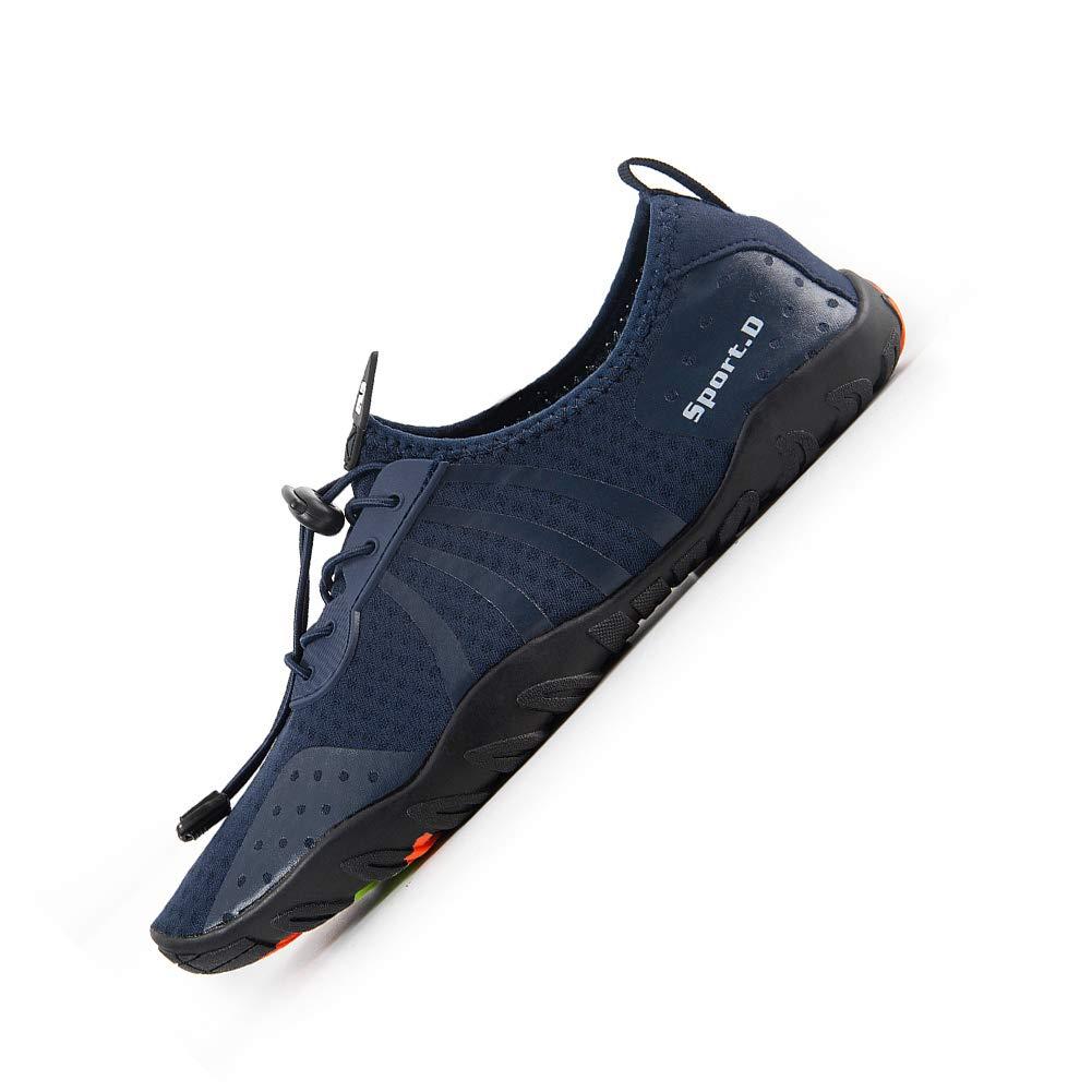 YALOX Water Shoes Men's Women's Outdoor Beach Swim Aqua Socks Quick-Dry Barefoot Shoes for Surfing Yoga Pool Exercise(8080-Blue,44EU) by YALOX (Image #2)