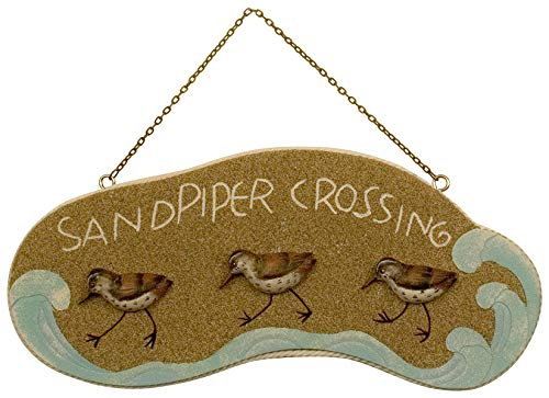 Sandpiper Wall Decor - T.I. Design Sandpiper Crossing Wall Plaque One Size