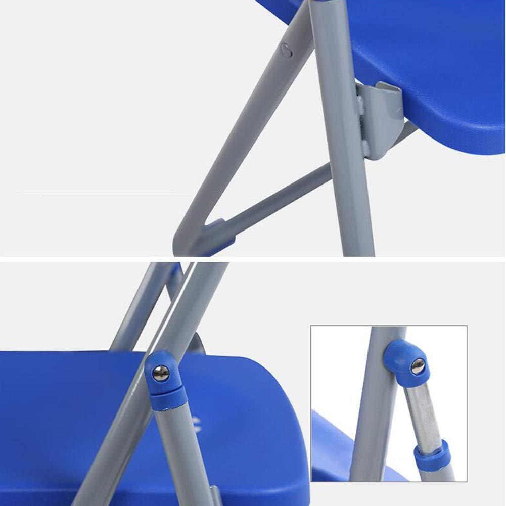 Fällbar stol DALL kontorsstol metallram lounge datorstol träningsstol plast säte paket – 6 (färg: Röd) BLÅ