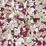 The Original Color Chips Decorative Floor Coating Flakes, (1/4') Premade Color Blends (Per Pound, Wine Barrel)