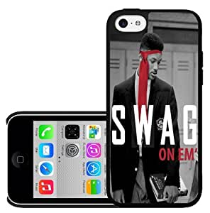 """Cool 90's Red, Black, and White Fresh Prince""""Swag on Em"""" Hard Snap on Phone Case (iPhone 5c)"""