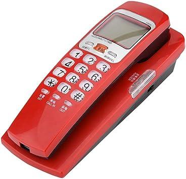 Topiky Teléfono con Cable,teléfono Fijo de Pared,teléfono Fijo con FSK/DTMF estándar, identificador de Llamadas,Altavoz,estación de extensión de Escritorio de Cable para el hogar/Oficina/Hotel(Rojo): Amazon.es: Electrónica