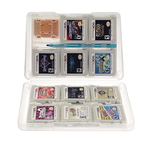 Insten 28-in-1 Game Card Case for Nintendo NEW 3DS / 3DS / DSi / DSi XL / DSi LL / DS / DS Lite / 3Ds Cartridge Storage Solution Box, White