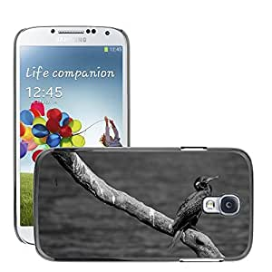 Etui Housse Coque de Protection Cover Rigide pour // M00112385 Pájaro Negro Blanco Naturaleza Animal // Samsung Galaxy S4 S IV SIV i9500