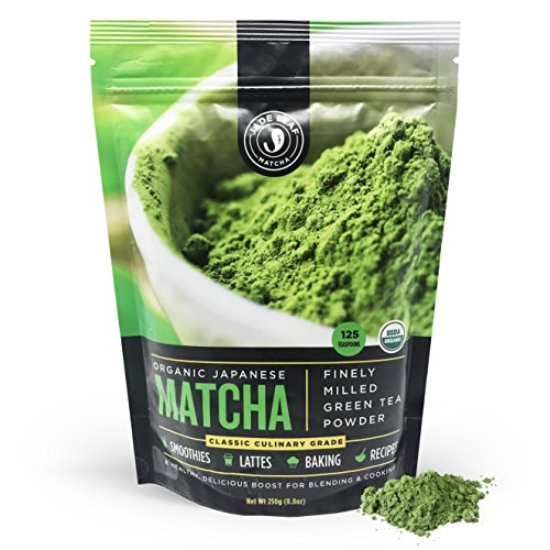 Jade Leaf Matcha Green Tea Powder - USDA Organic, Authentic Japanese Origin - Classic Culinary Grade - Antioxidants, Energy [8.8 Ounce (250 Gram) Super Value Size]