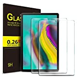 IVSO Screen Protector for Samsung galaxy TAB S6/S5e,No-Bubble HD Clear Tempered Glass Screen Protector for Samsung Galaxy Tab S5e SM-T720 (Wi-Fi) SM-T725 (LTE) SM-T860 10.5 inches 2019 Release T(2pcs)