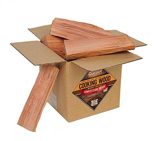 Smoak Firewood Cooking Wood Logs - USDA Certified Kiln Dried (Cherry, 8-10 lbs)