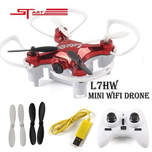 UPC 611517054907, LIDIRC Mini L7HW WiFi Real-time 0.3MP FPV Camera RC Quadcopter with Set Height Mode Headless Mode RTF Drone-Red/Black(Random)