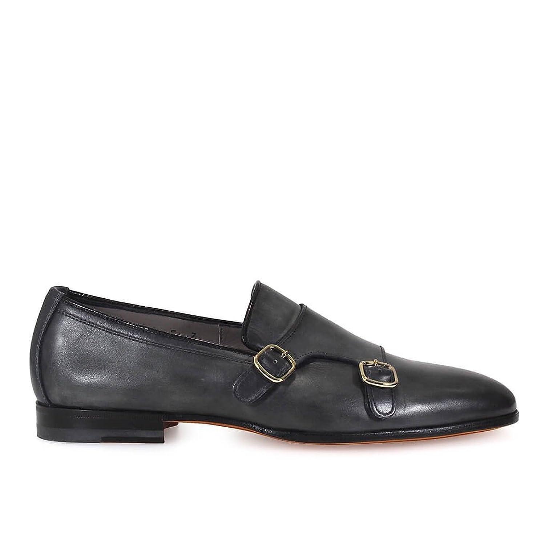 Men's MCNC13907LA1SGTDU99 Grey Leather Loafers