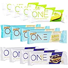 Oh Yeah! One Bar Summer Birthday Flavors Protein Bar Variety Pack Key Lime Pie, Birthday Cake, and Blueberry Cobbler 12 - Bars New Flavor!