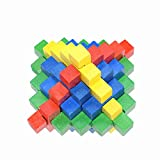 callm Educational Toy,Puzzle Toy 3D Wooden Toy Game IQ Brain Teaser Educational Puzzle Good Chinese Kongming Lock Luban Lock for Kids and Adult