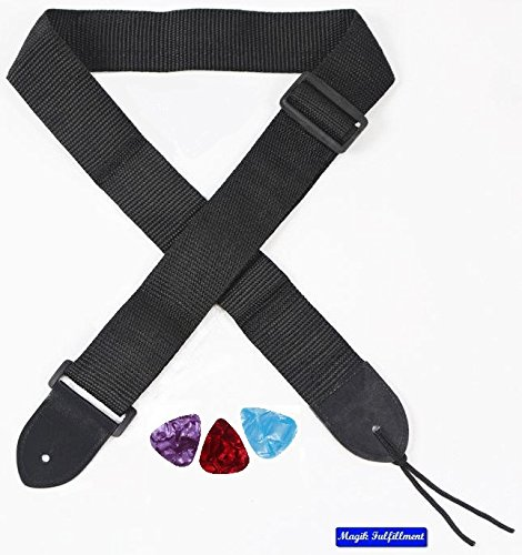 Guitar Strap For Electric/Acoustic Guitar Bass + Free Gift.