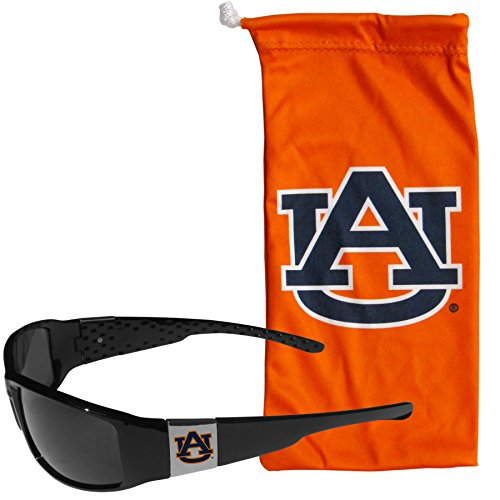 NCAA Auburn Tigers Chrome Wrap Sunglasses and Bag, Adult Size, - Auburn Sunglasses