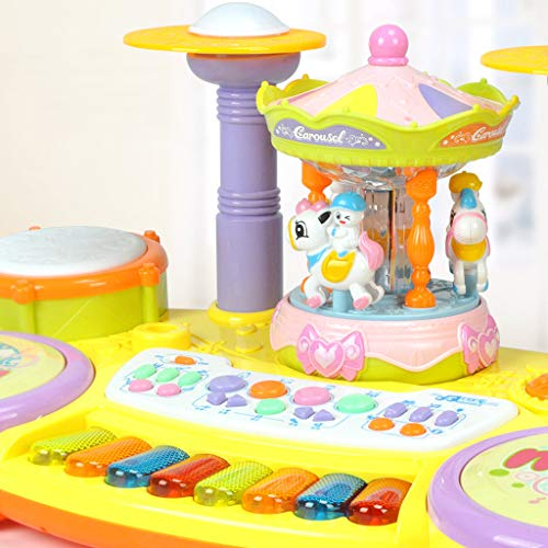 Multifunctional Electronic Piano Carousel High Fidelity Microphone Music Piano Listen To Your Baby Or Child's Voice Anytime, Anywhere The Best Gift For Your Children On Chilfren's Day by YOCrazy-US Direct (Image #4)