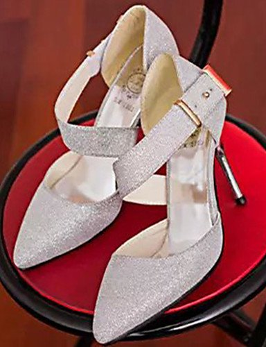 Scarpe stiletto 39 di ZQ cn36 mujer grigio tacones grigio argento pu tacones tac ® n casual uk4 eu36 us6 ¨ EU negro Fqggda