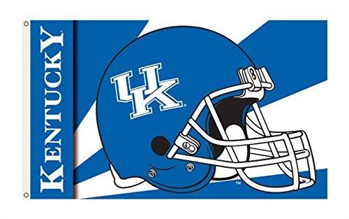 - College Sports Fan Premium Team Helmet 3'x5' Flag Banner (Kentucky Wildcats)