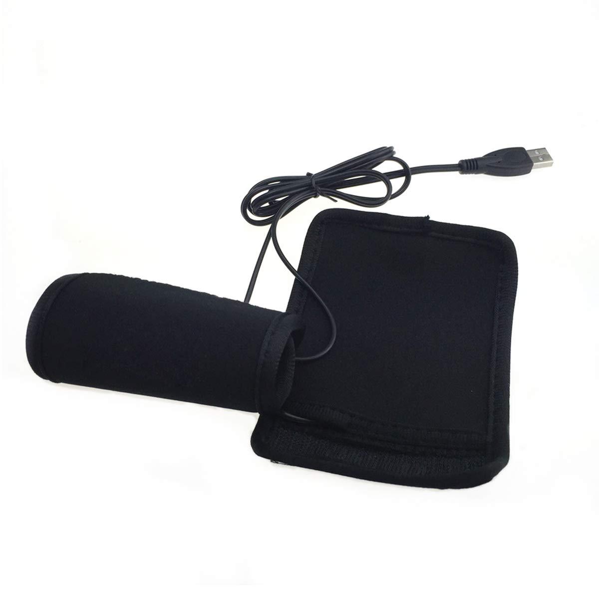 Globalflashdeal Manopole riscaldate USB Maniglia Manopole Scaldamani Estraibili Rimovibili per Moto 2pz