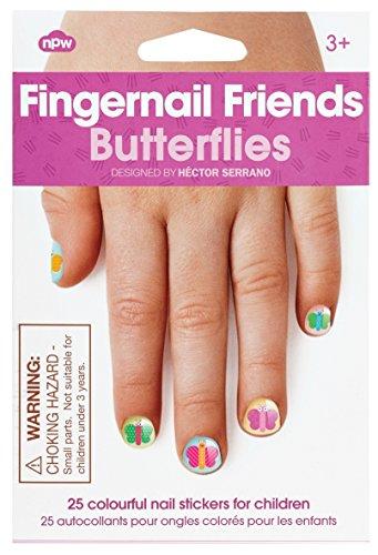 NPW-USA Butterflies Fingernail Friends Nail Stickers (25 Count)