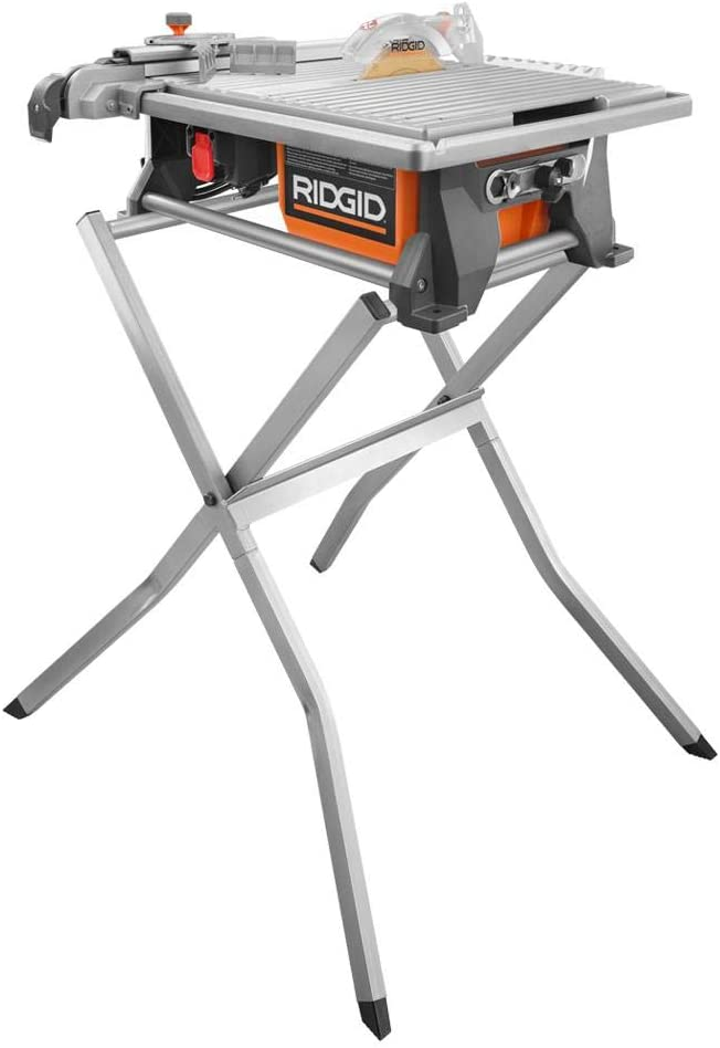 Ridgid R4021sn 120 Volt 7 In Tabletop Wet Tile Saw With Stand Amazon Com