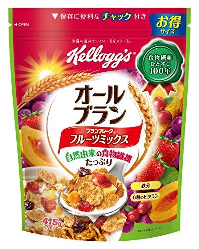 Kellogg bran flake fruit mix economical bag 415gX6 bags by Kellogg's
