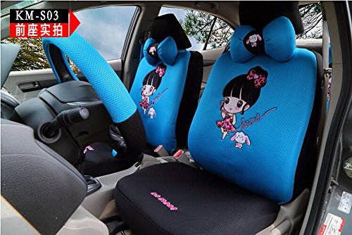 18pcs CAOMEN 1 set women cartoon car seat cover universal car-covers breathable fabric by OULILAI