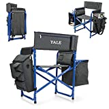 NCAA Yale University Digital Print Fusion Chair, Dark Grey/Blue, One Size