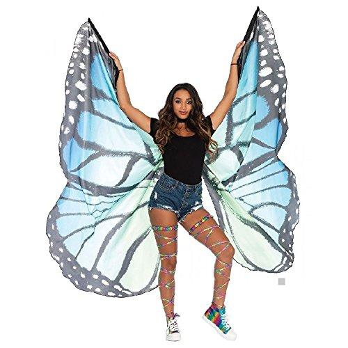 Butterfly Wings Costume Cape Adult Women Teen Girls Halloween Fancy Dress