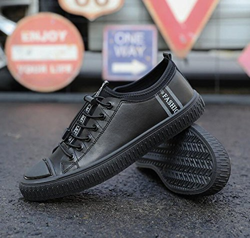 Summer Black Shoes Loafers Trainers Spring Shoes Mens up HUAN Shoes Lace Flat Casual qnPH7