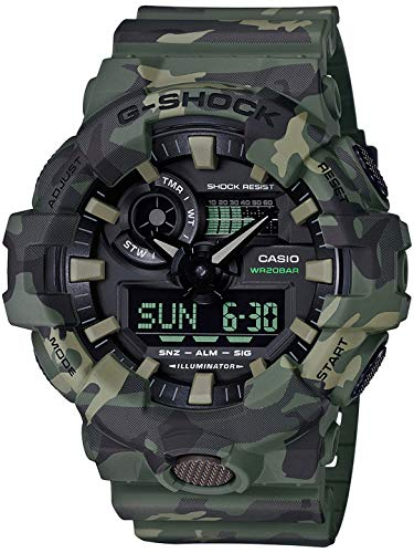 Casio G-Shock Analog-Digital Black Dial Men's Watch – GA-700CM-3ADR (G824)