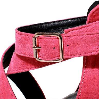 LvYuan Mujer-Tacón Stiletto-Zapatos del club-Sandalias-Vestido Fiesta y Noche-Terciopelo-Negro Azul Rosa Gris Naranja gray
